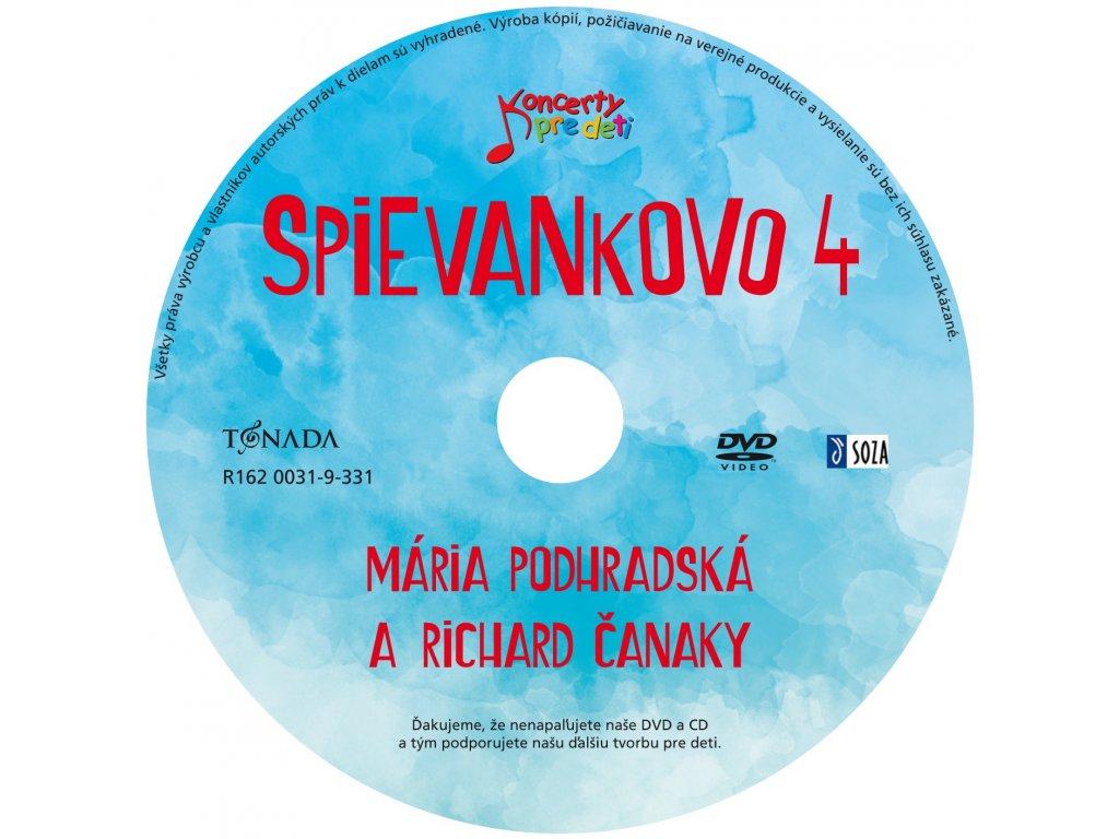 DVD - Mária Podhradská a Richard Čanaky - Spievankovo 4 - SPIEVANKOVO 45635f9937b
