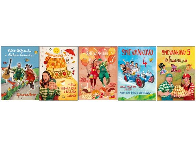 kolekcia DVD Spievankovo 1 - Spievankovo 5
