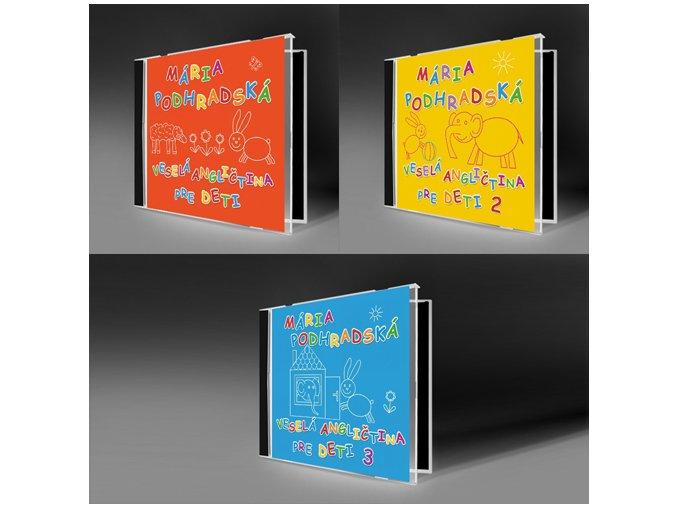 kolekcia CD Veselá angličtina pre deti 1, 2, 3