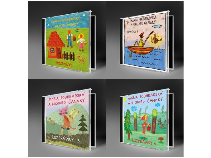 kolekcia CD Rozprávky 1, 2, 3, 4